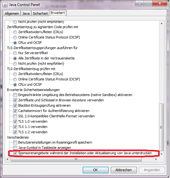 how to get to java control panel